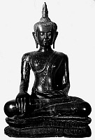 0120747 © Granger - Historical Picture ArchiveBUDDHA, 14th CENTURY.   Seated Buddha, Siamese, 14th century.