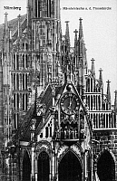 0091583 © Granger - Historical Picture ArchiveNUREMBERG: FRAUENKIRCHE.   Frauenkirche (Church of Our Lady) at Nuremberg, Germany. Photographed c1890.