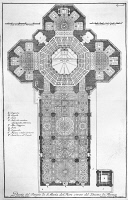 0123519 © Granger - Historical Picture ArchiveFLORENCE: CATHEDRAL.   Decorative floor plan of Santa Maria del Fiore Cathedral in Florence, Italy. Line engraving, 18th century, by Bernardo Sansone Sgrilli.