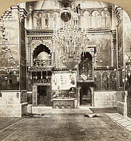 0130796 © Granger - Historical Picture ArchiveJERUSALEM: ARMENIAN CHURCH.   Interior of the Armenian Apostalic Church in Jerusalem. Stereograph, c1901.
