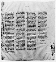 0061568 © Granger - Historical Picture ArchiveCODEX SINAITICUS.   Greek Bible on vellum (John, chapter xxi, verses 1-25). 4th century.