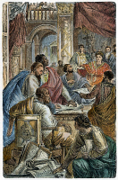 0054026 © Granger - Historical Picture ArchiveNICAEA COUNCIL, 325 A.D.   The 1st Ecumenical Council, convoked by Emperor Constantine, in Nicaea (modern Iznik, Turkey), in 325 A.D. Wood engraving, 19th century.