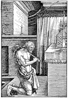 0064565 © Granger - Historical Picture ArchiveDURER: THE PENITENT, 1510.   Woodcut by Albrecht Durer.