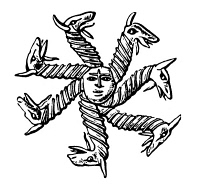 0047224 © Granger - Historical Picture ArchiveGNOSTIC SYMBOL.   The seven-headed serpent, symbol of Fate.