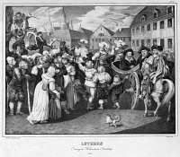 0528809 © Granger - Historical Picture ArchiveDIET OF WORMS, 1521.   Martin Luther arriving in Worms, Germany, April 1521. Lithograph, 1830.
