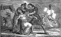 0068758 © Granger - Historical Picture ArchiveFOXE: BOOK OF MARTYRS.   Cruelties practiced in France. Wood engraving from an 1832 American edition of John Foxe's 'Book of Martyrs.'