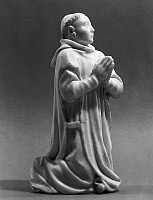 0124791 © Granger - Historical Picture ArchiveMONK PRAYING.   Marble sculpture of a Carthusian monk kneeling in prayer. Height: 10 1/8 in. French, late 14th century.
