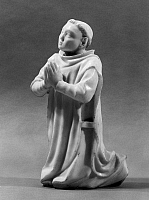 0124792 © Granger - Historical Picture ArchiveMONK PRAYING.   Marble sculpture of a Carthusian monk kneeling in prayer. Height: 9 1/2 in. French, late 14th century.