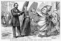 0059193 © Granger - Historical Picture ArchivePOPE PIUS IX (1792-1878).   Pope, 1846-1878. 'The Pope Ordering Our Minister, Mr. King, to Remove American Protestant Worship in Rome.' Wood engraving, 1868.