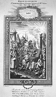0085073 © Granger - Historical Picture ArchiveRELIGION: PRAYER.   Frontispiece to Dr. Richard Hurd's 'Religious Ceremonies and Customs of All Nations,' depicting followers of various world faiths. Line engraving, English, late-18th century.