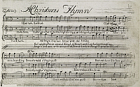 0011223 © Granger - Historical Picture ArchiveSIXTEEN ANTHEMS MUSIC, 1766.   Engraved music page by Paul Revere for