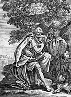 0013563 © Granger - Historical Picture ArchiveSAINT PETER (d. 67).   One of the Twelve Apostles and traditionally the first bishop of Rome. Copper engraving, 17th century.