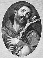 0015277 © Granger - Historical Picture ArchiveST. FRANCIS OF ASSISI   (1182-1226). Italian friar and preacher. Line engraving, 19th century.