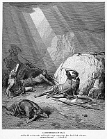 0041298 © Granger - Historical Picture ArchiveST. PAUL: CONVERSION.   The conversion of St. Paul (Acts 9:3-5). Wood engraving, 19th century, after Gustave Doré.