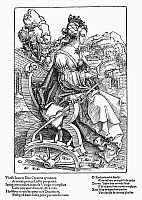 0042407 © Granger - Historical Picture ArchiveST. CATHERINE OF ALEXANDRIA   (early 4th century A.D.). Woodcut by Hans Baldung Grien, 1505.