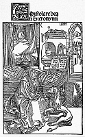 0045325 © Granger - Historical Picture ArchiveST. JEROME IN HIS STUDY.   Woodcut, 1492, by Albrecht Durer.
