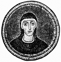 0078841 © Granger - Historical Picture ArchiveSAINT FELICITY (d.203).   Carthaginian slave and Christian martyr. Mosaic from the Archiepiscopal Chapel, Ravenna, c500.