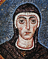 0085649 © Granger - Historical Picture ArchiveSAINT FELICITY (d. 203).   Carthaginian slave and Christian martyr. Detail from a mosaic in the Archiepiscopal Chapel, Ravenna, Italy, c500.