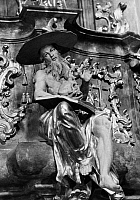 0165961 © Granger - Historical Picture ArchiveSAINT JEROME (c340-420).   Church scholar and translator. Sculpture in the Matthias Church, Budapest, Hungary.