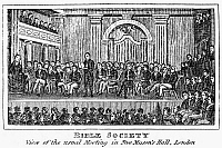 0068457 © Granger - Historical Picture ArchiveBIBLE SOCIETIES.   Line engraving, American, 1832.