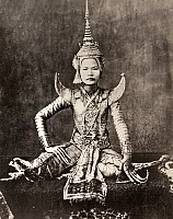 0077041 © Granger - Historical Picture ArchiveSIAM: DANCER, c1870.   A dancer of the Siamese Royal Court. Photographed, c1870.