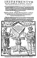 0002968 © Granger - Historical Picture ArchiveASTRONOMERS, 1533.   Astronomers with their instruments. Woodcut from Petrus Apianus' 'Folium Populi', Ingolstadt, Germany, 1533.