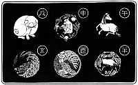 0076043 © Granger - Historical Picture ArchiveJAPANESE ZODIAC SIGNS.