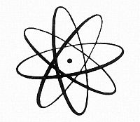 0033951 © Granger - Historical Picture ArchiveATOMIC ENERGY.   An idealized atom.