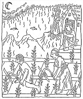 0001342 © Granger - Historical Picture ArchiveINCAN CULTIVATION.   Incas cultivating a cornfield. Pen and ink drawing from 'El primer nueva cronica y buen gobierno' ('The first new chronicle and good government'), 1583-1615, by Felipe Guaman Poma de Ayala.