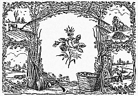 0090925 © Granger - Historical Picture ArchivePLANTING: DECORATE CUT.   Woodcut, American, 19th century.