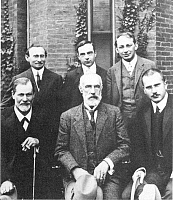 0013358 © Granger - Historical Picture ArchiveJUNG AND FREUD, 1909.   Psychoanalytical participants in the Clark University Psychology Conference of 1909. Seated (left to right): S. Freud, G.S. Hall, C.G. Jung; standing (left to right): A.A. Brill, Ernest Jones, and S. Ferenczi.