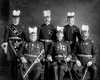 0132515 © Granger - Historical Picture ArchiveFREEMASON: KNIGHTS TEMPLAR.   Members of the Knights Templar Masonic Order. Photograph, early 20th century.
