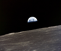0184598 © Granger - Historical Picture ArchiveAPOLLO 10: EARTHRISE, 1969.   A view of the earth rising over the moon's horizon. Photographed from the Apollo 11 spacecraft, 1969.