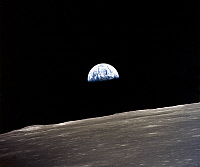0184600 © Granger - Historical Picture ArchiveAPOLLO 10: EARTHRISE, 1969.   A view of the earth rising over the moon's horizon. Photographed from the Apollo 11 spacecraft, 1969.