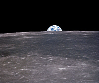 0184604 © Granger - Historical Picture ArchiveAPOLLO 11: EARTHRISE, 1969.   A view of the earth rising over the moon's horizon. Photographed from the Apollo 11 spacecraft, 1969.