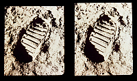0184671 © Granger - Historical Picture ArchiveAPOLLO 11: FOOTPRINT, 1969.   Neil Armstrong's footprint on the surface of the moon. Photograph, 1969.