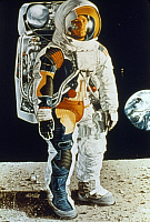 0322431 © Granger - Historical Picture ArchiveAPOLLO 15: SPACESUIT, 1971.   Cutaway illustration of the spacesuit worn by the Apollo 15 astronauts, 1971.