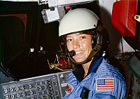 0183975 © Granger - Historical Picture ArchiveANNA L. FISHER (1949- ).   American astronaut and chemist. Photographed in training at the Johnson Space Center, June 1980.