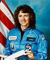 0184030 © Granger - Historical Picture ArchiveCHRISTA MCAULIFFE (1948-1986).   American teacher and NASA spaceflight participant. Photograph, 1985.