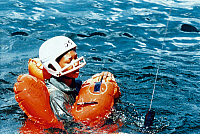 0185383 © Granger - Historical Picture ArchiveSPACE: TRAINING, 1992.   Astronaut Mae Jemison during survival training. Photograph, 1992.