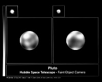 0186359 © Granger - Historical Picture ArchivePLUTO: HUBBLE VIEW, 1996.   View of Pluto photographed by the Hubble Space Telescope's Faint Object Camera, 1996.