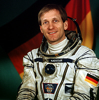 0351248 © Granger - Historical Picture ArchiveCOSMONAUTS, 1992.   German cosmonaut Klaus-Dietrich Flade before the Soviet-German spaceflight, 1992. Full credit: ITAR-TASS Photo Agency / Granger, NYC -- All rights reserved.