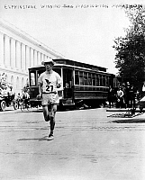 0031879 © Granger - Historical Picture ArchiveWASHINGTON MARATHON, 1911.   Elphinstone, winner of the Washington, D.C. Marathon on 15 May 1911.