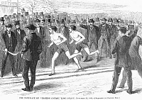 0101075 © Granger - Historical Picture ArchiveFOOT RACE, 1868.   'The Foot Race on