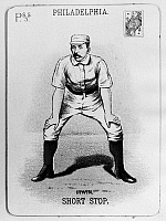 0101148 © Granger - Historical Picture ArchiveARTHUR IRWIN (1858-1921).   Arthur 'Foxy' Irwin. Canadian-American shortstop. Baseball card from the 1888 season of the Philadelphia Phillies.