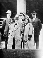 0122226 © Granger - Historical Picture ArchiveBILLY SUNDAY (1862-1935).   William Ashley 'Billy' Sunday. American baseball player and evangelist. Photographed with his wife, and three unidentified men, c1910.