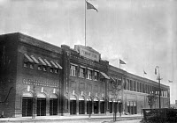 0162842 © Granger - Historical Picture ArchiveBOSTON: FENWAY PARK, c1914.   Exterior of Fenway Park baseball grounds in Boston, Massachusetts. Photograph, c1914.