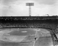 0170442 © Granger - Historical Picture ArchiveBASEBALL: FENWAY PARK, 1956.   Game between the Boston Red Sox and Baltimore Orioles at Fenway Park in Boston, Massachusetts, on opening day of the American League baseball season, 17 April 1956.