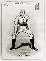 0216953 © Granger - Historical Picture ArchiveARTHUR IRWIN (1858-1921).   Arthur 'Foxy' Irwin. Canadian-American shortstop. Baseball card from the 1888 season of the Philadelphia Phillies.