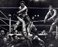 0055176 © Granger - Historical Picture ArchiveBELLOWS: DEMPSEY, 1924.   George Bellows: Dempsey and Firpo. Lithograph, 1924.